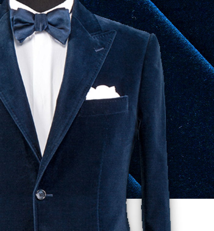 Veste velours bleu Costume privé paris